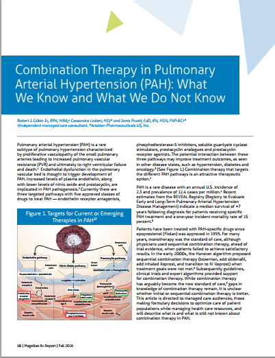 Combination Therapy in Pulmonary Arterial Hypertension (PAH): What We Know and What We Do Not Know